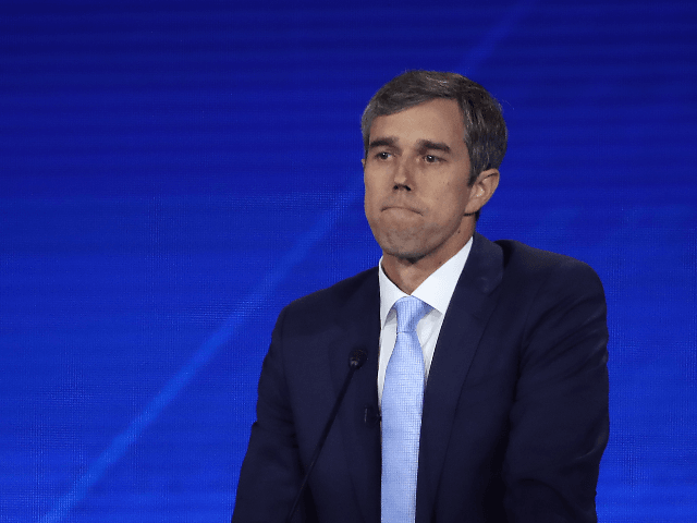 Democratic presidential candidate former Texas congressman Beto O'Rourke speaks during the Democratic Presidential Debate at Texas Southern University's Health and PE Center on September 12, 2019 in Houston, Texas. Ten Democratic presidential hopefuls were chosen from the larger field of candidates to participate in the debate hosted by ABC News …