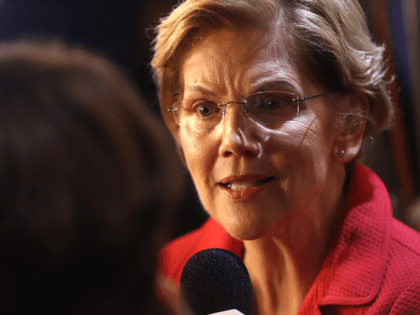 Sen. Elizabeth Warren (D-MA) is interviewed the spin room after the Democratic Presidential Debate at Texas Southern University on September 12, 2019 in Houston, Texas. Ten Democratic presidential hopefuls were chosen from the larger field of candidates to participate in the debate hosted by ABC News in partnership with Univision. …