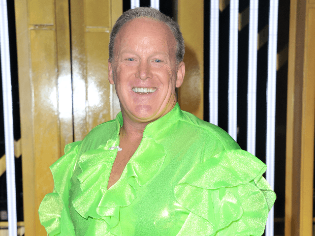 """Sean Spicer attends the """"Dancing With The Stars"""" Season 28 show at CBS Television City on September 16, 2019 in Los Angeles, California. (Photo by Allen Berezovsky/Getty Images)"""