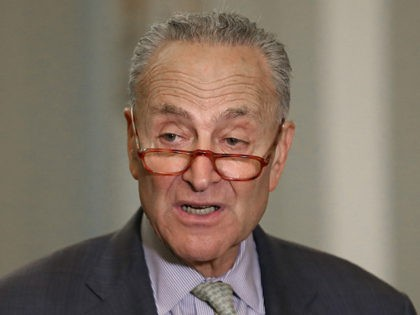 WASHINGTON, DC - SEPTEMBER 17: Senate Minority Leader Charles Schumer (D-NY) speaks to the media after attending the Democratic weekly policy luncheon on Capitol Hill September 17, 2019 in Washington, DC. Leader Schumer spoke about gun legislation that has stalled in the Senate. (Photo by Mark Wilson/Getty Images)