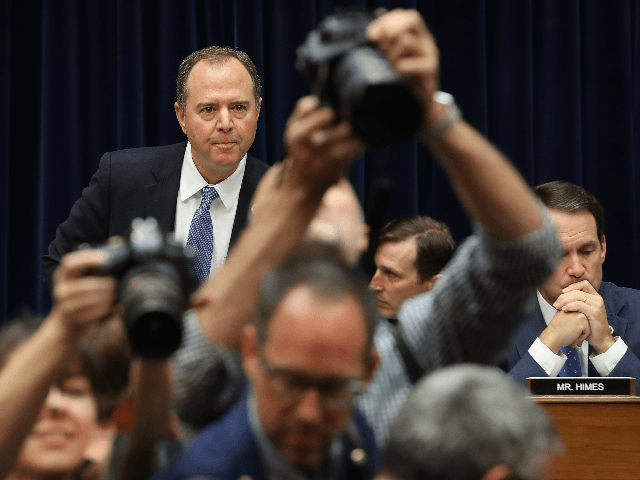 Committee chairman Adam Schiff arrives at a hearing featuring Acting Director of National Intelligence Joseph Maguire testifying before the House Select Committee on Intelligence in the Rayburn House Office Building on Capitol Hill September 26, 2019 in Washington, DC. The committee questioned Maguire about a recent whistleblower complaint reportedly based …