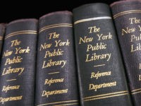 NEW YORK - DECEMBER 15: Books stand on the shelf at the at the New York Public Library December 15, 2004 in New York City. Google, the internet search engine, has announced a long-term project to put 15 million books from seven of the world's most prestigious libraries online. Included …