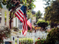 homes with flag