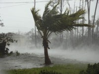 CORRECTS FROM CANAL TO ROAD - A road is flooded during the passing of Hurricane Dorian in Freeport, Grand Bahama, Bahamas, Monday, Sept. 2, 2019. Hurricane Dorian hovered over the Bahamas on Monday, pummeling the islands with a fearsome Category 4 assault that forced even rescue crews to take shelter …