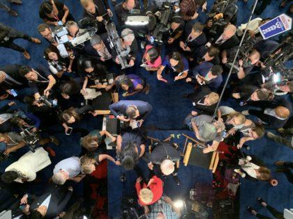 Spin Room (Joel Pollak / Breitbart News)