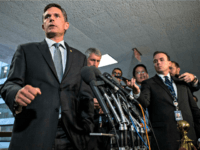 WASHINGTON, DC - SEPTEMBER 26: Sen. Martin Heinrich (D-NM) speaks to members of the press after a closed door meeting between Inspector General of the Intelligence Community Michael Atkinson and the Senate Select Committee on Intelligence on Capitol Hill on September 26, 2019 in Washington, DC. Inspector General Atkinson stated …