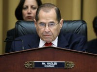 WASHINGTON, DC - JULY 24: Chairman of the House Judiciary Committee Rep. Jerry Nadler (D-NY) questions former Special Counsel Robert Mueller as he testifies about his report on Russian interference in the 2016 presidential election in the Rayburn House Office Building July 24, 2019 in Washington, DC. Mueller, along with …