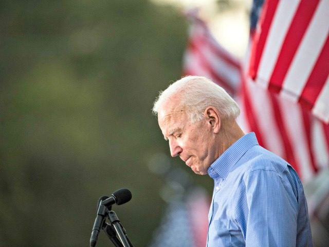 GALIVANTS FERRY, SC - SEPTEMBER 16: Former Vice President and Democratic presidential candidate Joe Biden addresses the crowd at The Galivants Ferry Stump on September 16, 2019 in Galivants Ferry, South Carolina. It's the first time the 143 year-old event has been held in the fall featuring Democratic presidential candidates. …