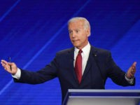 Democratic presidential hopeful Former Vice President Joe Biden speaks during the third Democratic primary debate of the 2020 presidential campaign season hosted by ABC News in partnership with Univision at Texas Southern University in Houston, Texas on September 12, 2019. (Photo by Robyn BECK / AFP) / ALTERNATIVE CROP (Photo …