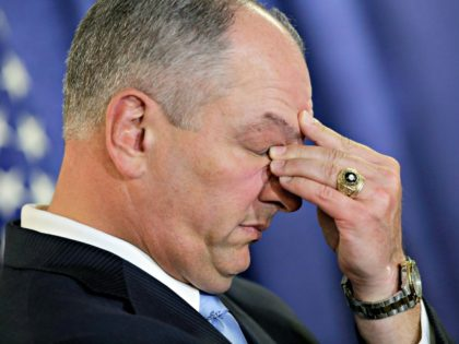 John Bel Edwards Closes Eyes