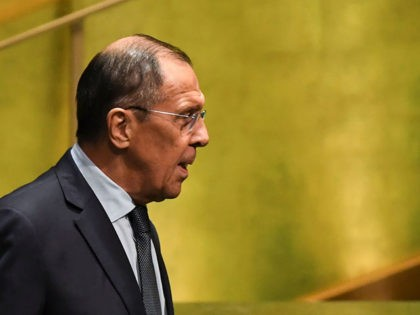 Russian Foreign Minister Sergey Lavrov arrives to speak during the 74th Session of the General Assembly at UN Headquarters in New York on September 27, 2019. (Photo by TIMOTHY A. CLARY / AFP) (Photo credit should read TIMOTHY A. CLARY/AFP/Getty Images)