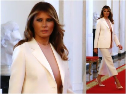 Fashion Notes: Melania Trump Suits Up in Dior for White House Ceremony