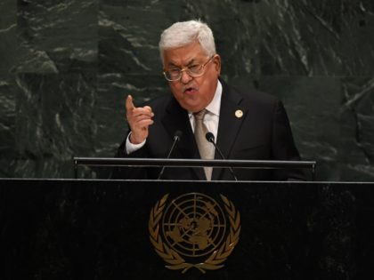 Palestinian President Mahmoud Abbas speaks during the 74th Session of the General Assembly at UN Headquarters in New York on September 26, 2019. (Photo by TIMOTHY A. CLARY / AFP) (Photo credit should read TIMOTHY A. CLARY/AFP/Getty Images)