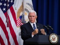 Vice President Mike Pence speaks during an immigration and naturalization ceremony in the Eisenhower Executive Office Building on the White House grounds, Tuesday, Sept. 17, 2019, in Washington. (AP Photo/Alex Brandon)