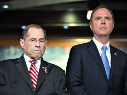 Congressmen Jerrold Nadler (l) and Adam Schiff. (SAUL LOEB/AFP/Getty Images)