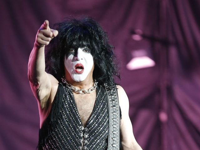 Paul Stanley, of the rock band Kiss performs at the Domination music festival in Mexico City, Friday, May 3, 2019. (AP Photo/Eduardo Verdugo)
