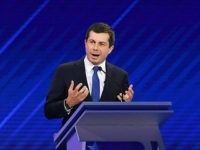 Democratic presidential hopeful Mayor of South Bend, Indiana, Pete Buttigieg speaks during the third Democratic primary debate of the 2020 presidential campaign season hosted by ABC News in partnership with Univision at Texas Southern University in Houston, Texas on September 12, 2019. (Photo by Robyn BECK / AFP) (Photo credit …