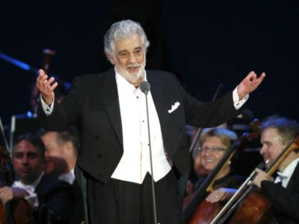 FILE - In this Aug. 28, 2019 file photo, opera star Placido Domingo salutes spectators at the end of a concert in Szeged, Hungary. The union that represents opera performers has launched its own investigation into sexual harassment allegations against Domingo, saying it cannot be sure that opera companies will …
