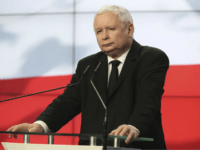 Jaroslaw Kaczynski, the head of Poland's ruling party, speaks at a news conference where the speaker of the parliament resigns in Warsaw, Poland, on Thursday Aug. 8, 2019. Kuchcinski's resignation was prompted by public anger over his and his family's frequent use of government planes. Kuchcinski and Kaczynski insisted that …
