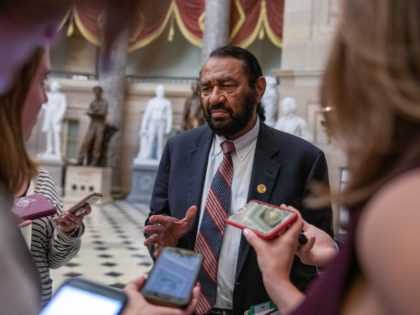 WASHINGTON, DC - JULY 17: Rep. Al Green (D-TX) speaks to reporters on the way to House Floor on July 17, 2019 in Washington, DC. The House voted to block an effort to impeach President Trump, in the first test of the divisive issue since Democrats took control of the …