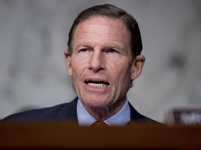 Sen. Richard Blumenthal, D-Conn., speaks as Federal Aviation Administration Acting Administrator Daniel Elwell, National Transportation Safety Board Chairman Robert Sumwalt, and Department of Transportation Inspector General Calvin Scovel appear before a Senate Transportation subcommittee hearing on commercial airline safety, on Capitol Hill, Wednesday, March 27, 2019, in Washington. Two recent …