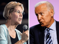 Elizabeth Warren and Joe Biden (Frederic J. Brown and Jeff Kowalsky / AFP / Getty)