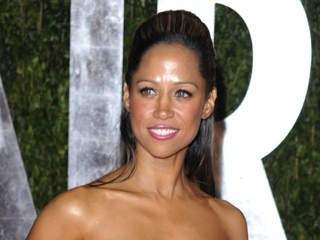 FILE - In this Sunday, March 7, 2010 file photo, Stacey Dash arrives at the Vanity Fair Oscar party in West Hollywood, Calif. Dash, who tweeted an endorsement of Romney, was subjected to a stream of abuse from other African-Americans. (AP Photo/Peter Kramer)
