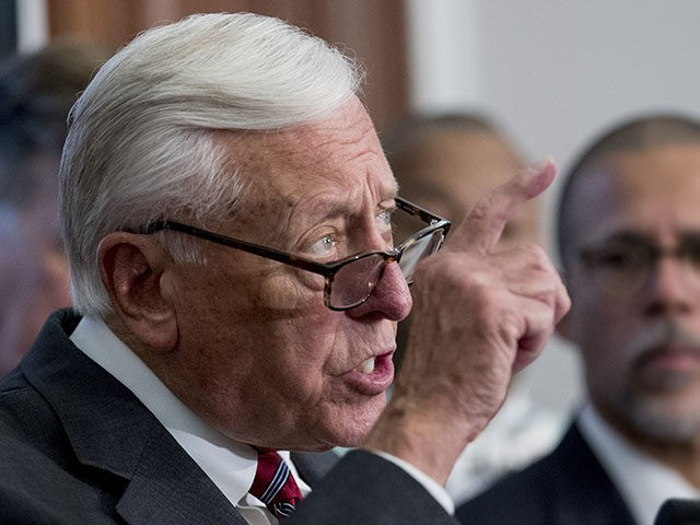 House Majority Leader Steny Hoyer of Md., left, accompanied by Rep. Anthony Brown, D-Md., right, speaks at a news conference calling for Senate action on H.R. 8 - Bipartisan Background Checks Act of 2019 on Capitol Hill in Washington, Tuesday, Aug. 13, 2019. (AP Photo/Andrew Harnik)