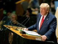 U.S. President Donald Trump addresses the 74th session of the United Nations General Assembly at U.N. headquarters Tuesday, Sept. 24, 2019. (AP Photo/Mary Altaffer)