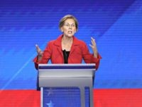 HOUSTON, TEXAS - SEPTEMBER 12: Democratic presidential candidate Sen. Elizabeth Warren (D-MA) speaks during the Democratic Presidential Debate at Texas Southern University's Health and PE Center on September 12, 2019 in Houston, Texas. Ten Democratic presidential hopefuls were chosen from the larger field of candidates to participate in the debate …