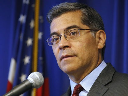 California Attorney General Xavier Becerra discusses the lawsuit his office has filed against Purdue Pharma for its painkiller Oxycontin, during a news conference, Monday, June 3, 2019, in Sacramento, Calif. The suit, filed against Purdue and its former president, Dr. Richard Sackler, alleges it falsely promoted the drug as not …