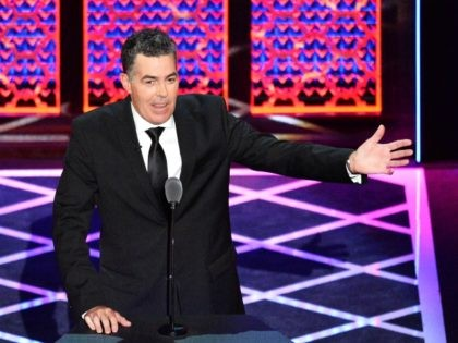 BEVERLY HILLS, CALIFORNIA - SEPTEMBER 07: Adam Carolla speaks onstage during the Comedy Central Roast of Alec Baldwin at Saban Theatre on September 07, 2019 in Beverly Hills, California. (Photo by Jerod Harris/Getty Images)