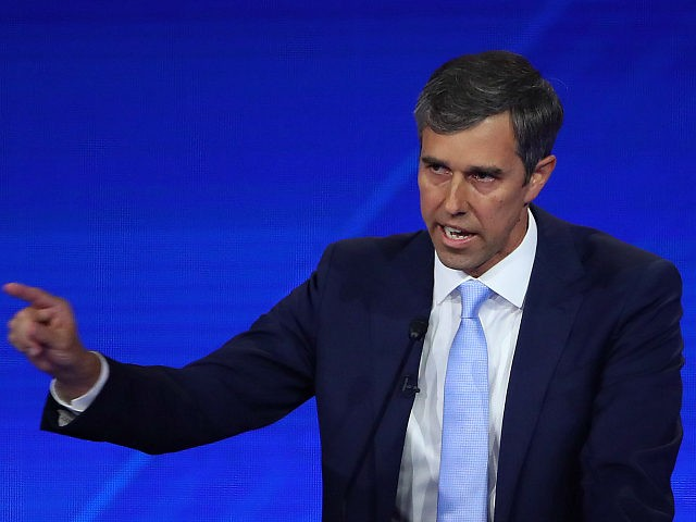 HOUSTON, TEXAS - SEPTEMBER 12: Democratic presidential candidate former Texas congressman Beto O'Rourke speaks during the Democratic Presidential Debate at Texas Southern University's Health and PE Center on September 12, 2019 in Houston, Texas. Ten Democratic presidential hopefuls were chosen from the larger field of candidates to participate in the …