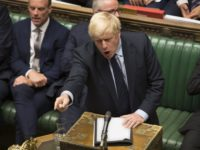 In this image released by the House of Commons, Britain's Prime Minister Boris Johnson speaks in the House of Commons, London, Tuesday Sept. 3, 2019 after MPs voted in favor of allowing a cross-party alliance to take control of the Commons agenda on Wednesday in a bid to block a …