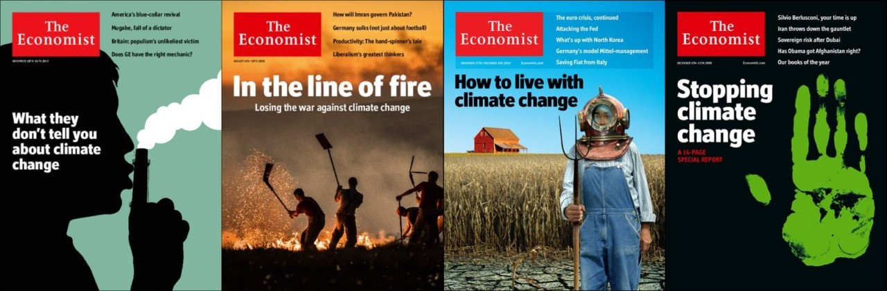 Economist cover stories on climate change