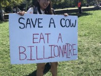 WATCH – D.C. Climate Activists: 'Don't Eat Cows; Eat the Rich'