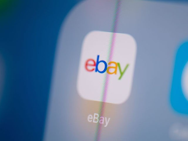 This illustration picture taken on July 24, 2019 in Paris shows the logo of the US web auctions application Ebay on the screen of a tablet. (Photo by Martin BUREAU / AFP) (Photo credit should read MARTIN BUREAU/AFP/Getty Images)
