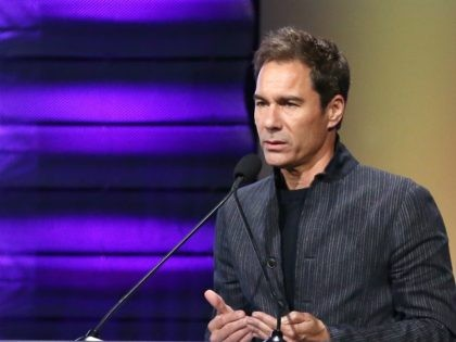 BEVERLY HILLS, CA - OCTOBER 13: Point Impact Award Honoree Eric McCormack speaks onstage at Point Foundation's Point Honors gala at The Beverly Hilton Hotel on October 13, 2018 in Beverly Hills, California. (Photo by Rich Polk/Getty Images for Point Honors)