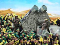 Members of Lebanon's powerful Shiite movement Hezbollah parade with a mock missile launcher during a rally on the thirteenth day of the mourning period of Muharram, which follows the tenth day of Ashura, in the southern Lebanese city of Nabatiyeh, on October 27, 2015. AFP PHOTO / MAHMOUD ZAYYAT (Photo …