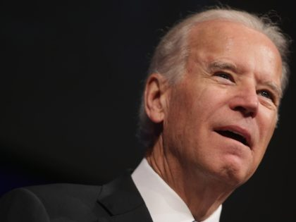 WASHINGTON, DC - OCTOBER 10: U.S. Vice President Joe Biden shares his memories of former White House Press Secretary James Brady during his memorial service at the Newseum October 10, 2014 in Washington, DC. After Brady was seriously wounded and permanently disabled as a result of the attempted assassination of …