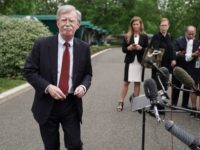WASHINGTON, DC - MAY 01: White House National Security Advisor John Bolton talks to reporters following a television interview outside the West Wing May 01, 2019 in Washington, DC. Bolton answered brief questions about the ongoing political and security turmoil in Venezuela. (Photo by Chip Somodevilla/Getty Images)