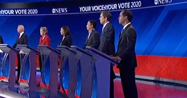 Harris, Klobuchar, Castro Stand on Booster Boxes to Appear Taller on Debate Stage
