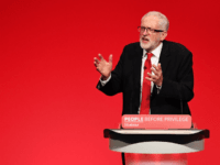 BRIGHTON, ENGLAND - SEPTEMBER 24: Labour leader Jeremy Corbyn addresses conference in his keynote speech on September 24, 2019 in Brighton, England. After the Supreme Court ruled the prorogation of Parliament was unlawful, the House of Commons Speaker John Bercow announced that Parliament would re-convene at 11.30am Wednesday morning. Jeremy …