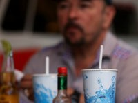 Paper straws sit soft drinks at Wipeout Bar & Grill on June 21, 2018 in San Francisco, California. San Francisco, Oakland and Berkeley are all considering bans on plastic straws but are facing the difficult challenge of finding suppliers that make paper straws. Aardvark Straws, one of a few paper …
