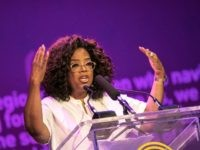 US TV personality Oprah Winfrey delivers a speech during an event to mark 100 years since the birth of Nelson Mandela, at the University of Johannesburg, Soweto Campus, in Johannesburg on November 29, 2018. (Photo by GIANLUIGI GUERCIA / AFP) (Photo credit should read GIANLUIGI GUERCIA/AFP/Getty Images)