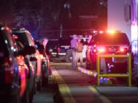 HOUSTON, TX - JANUARY 28: Law enforcement personnel work at the scene of a shooting where five Houston police officers were reported shot January 28, 2019 in Houston, Texas. A tweet by the police officers union in Houston said that two of the officers were in critical condition and that …