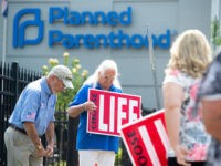 Anti-abortion demonstrators hold a protest outside the Planned Parenthood Reproductive Health Services Center in St. Louis, Missouri, May 31, 2019, the last location in the state performing abortions. - Missouri was set Friday to become the first US state in half a century without abortion services unless a court steps …
