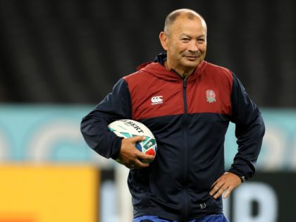 SAPPORO, JAPAN - SEPTEMBER 20: Eddie Jones, the England head coach looks on during the England training session at the Sapporo Dome on September 20, 2019 in Sapporo, Japan. (Photo by David Rogers/Getty Images)