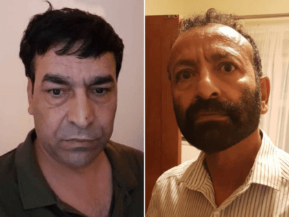 Darya Khan Safi (left) and Mohammed Patman (right) have been arrested on suspicion on planning to kidnap and murder a female relative who renounced Islam. ( National Crime Agency )