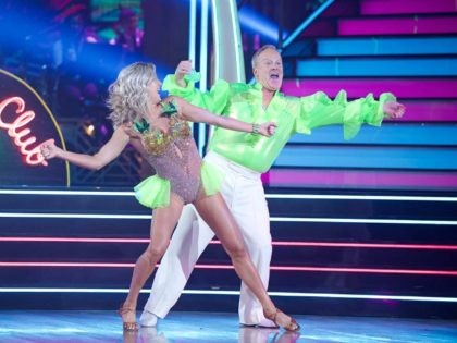 Watch: Sean Spicer Wears Glorious Puffy Neon Blouse for 'Dancing With the Stars' Debut